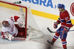NHL hockey match between the Montreal Canadiens and Detroit Red Wings